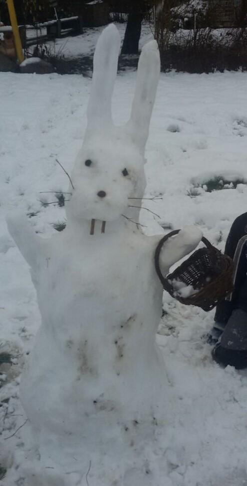 Kunstunterricht im verschneiten Lockdown